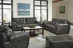 Hudson Steel Sofa and Loveseat
