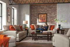 Ava Cashew Loveseat With USB Port