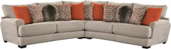 Ava Cashew 3-Pc Sectional