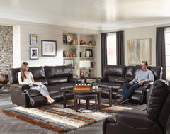 Wembley Chocolate Power Sofa and Power Loveseat