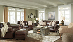 Roleson Walnut Sofa, Loveseat and Chair A Half