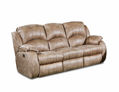 Cagney Vintage Reclining Sofa with Power Headrest