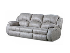 Cagney Nickel Reclining Sofa with Power Headrest