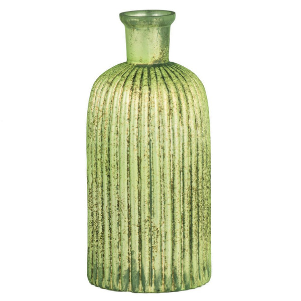 "Shop A&B Home 9"" Metallic Green Glass Vase at  Raley's Home Furnishing"