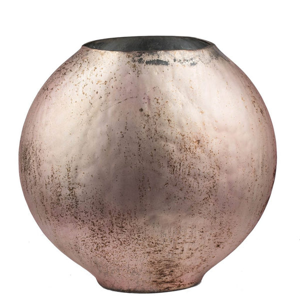 Shop A&B Home Copper Weathered Glass Vase at  Raley's Home Furnishing