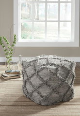 Shop Ashley Furniture Adelphie Natural/Gray Pouf at  Raley's Home Furnishing