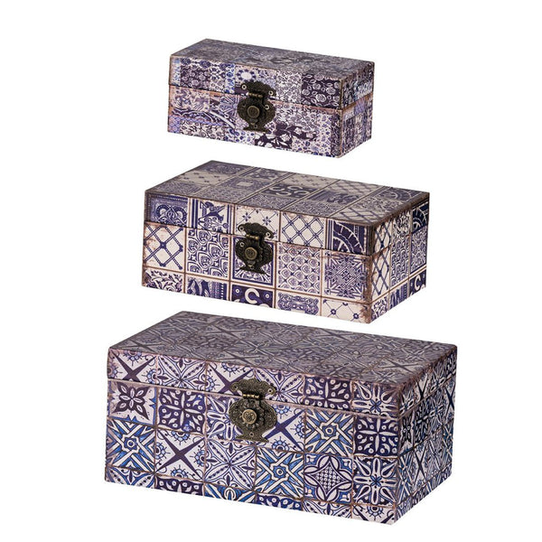 Shop A&B Home Vintage Print Boxes at  Raley's Home Furnishing