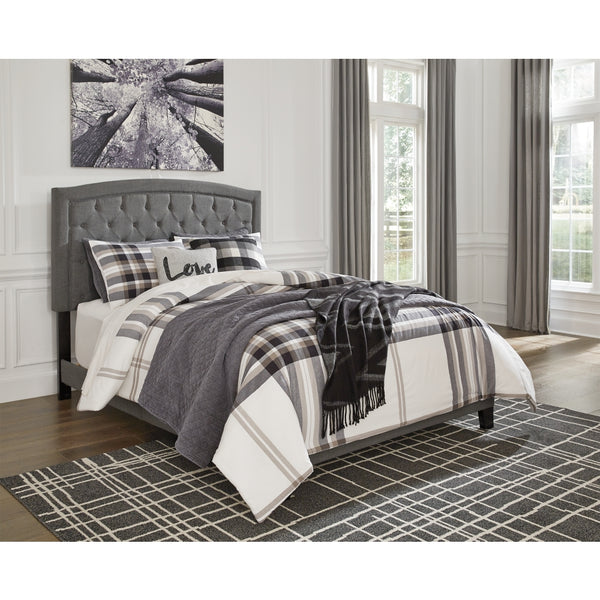 Adelloni King Button Tufted Padded (Gray)