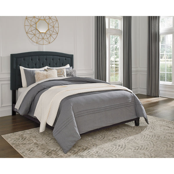 Adelloni Queen Button Tufted Padded (Charcoal)