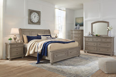 Shop Ashley Furniture Lettner Light Gray Queen Storage Bed Set at  Raley's Home Furnishing