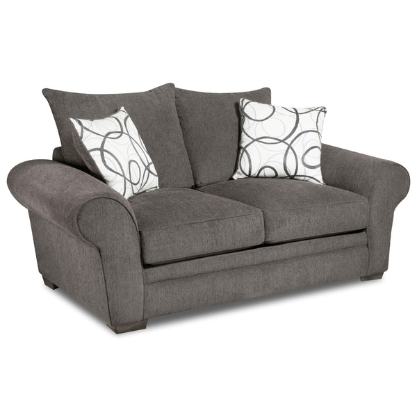 Shop Corinthian Othello Black Loveseat at  Raley's Home Furnishing