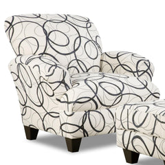 Shop Corinthian Othello Black White Accent Chair Dreamcatcher Steel at  Raley's Home Furnishing