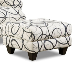 Shop Corinthian Othello Black White Accent Ottoman Dreamcatcher Steel at  Raley's Home Furnishing