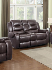 Golden Chocolate Reclining Loveseat - Online Exclusive