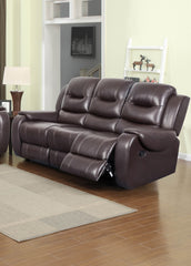 Golden Chocolate Reclining Sofa - Online Exclusive