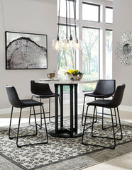 Centiar Table & 4 Barstools Black