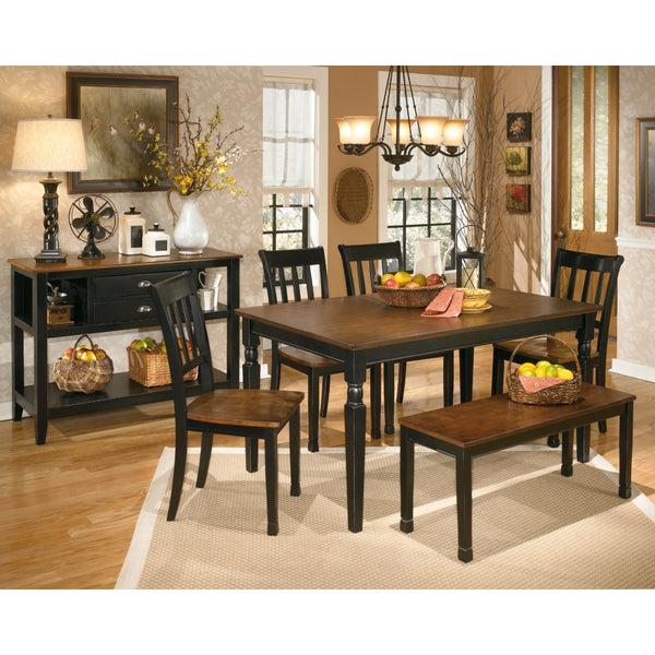 Owingsville Table 4 Side Chairs & Bench