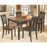 Owingsville Rectangular Table & 4 Side Chairs