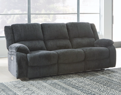 Draycoll Power Reclining Sofa- Slate