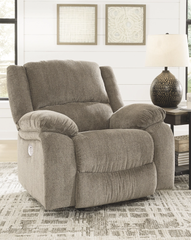 Draycoll Power Rocker Recliner- Pewter