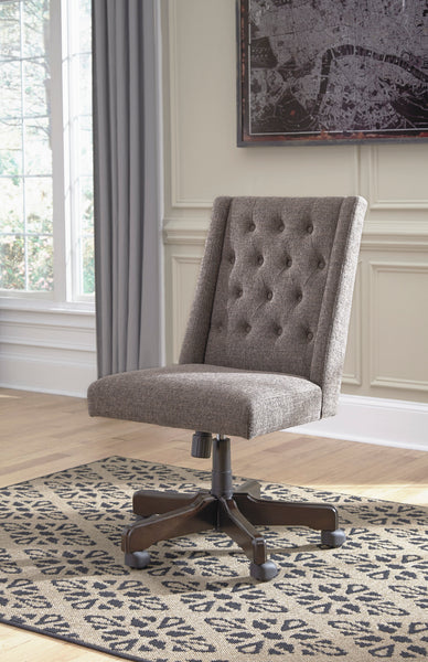 Shop Ashley Furniture Office Chair Program Home Office Swivel Desk Chair- Graphite at  Raley's Home Furnishing