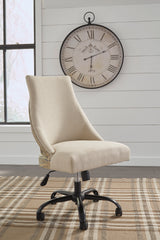 Shop Ashley Furniture Office Chair Program Home Office Swivel Desk Chair- Linen at  Raley's Home Furnishing