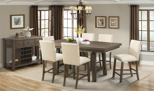 Shop Elements Jax Counter Table & 4 Counter Chairs at  Raley's Home Furnishing
