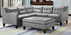 Shop Leather Italia Malibu 3 Piece Leather Sectional at  Raley's Home Furnishing