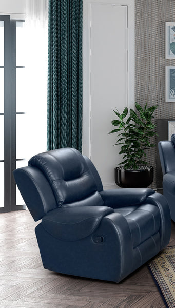 Golden Navy Recliner - Online Exclusive