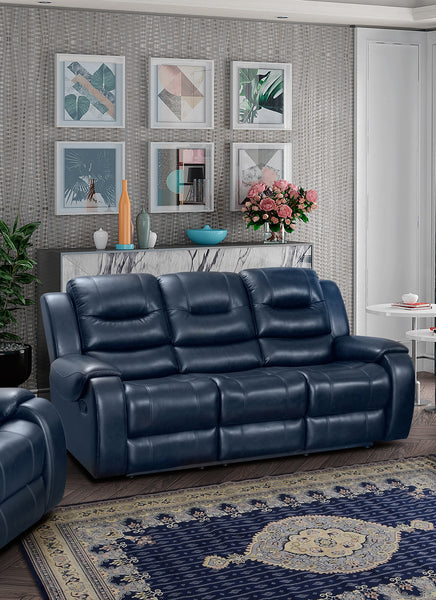Golden Navy Reclining Sofa - Online Exclusive