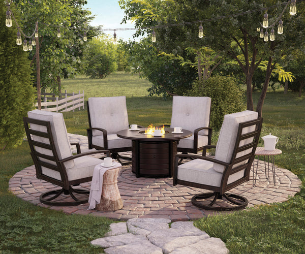 Castle Island Round Fire Pit Table