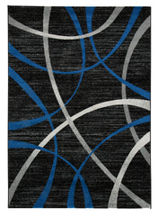 Shop Ashley Furniture Jenue Black/Gray/Blue Medium Rug at  Raley's Home Furnishing