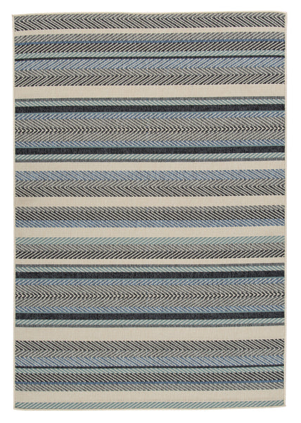 Shop Ashley Furniture Troost Blue/Cream Medium Rug at  Raley's Home Furnishing
