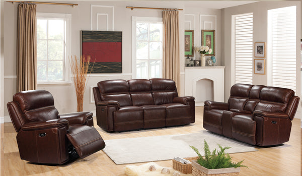 Shop Leather Italia Fresno Power Leather Recliner at  Raley's Home Furnishing