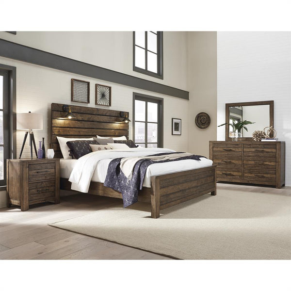 Shop Samuel Lawrence Dakota King Bed w/ Dresser, Mirror, Nightstand at  Raley's Home Furnishing