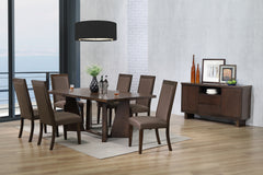 Walnut Veneer Table & 4 Side Chairs - Online Exclusive