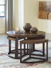 Johurst Cocktail Table with 4 Stools