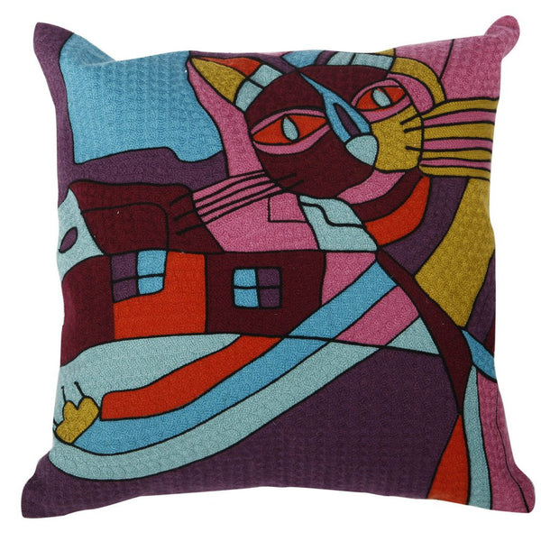 Shop A&B Home Abstract Cat Pillow at  Raley's Home Furnishing