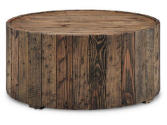 Shop Magnussen Dakota Brown Round Cocktail Table w/Castors at  Raley's Home Furnishing