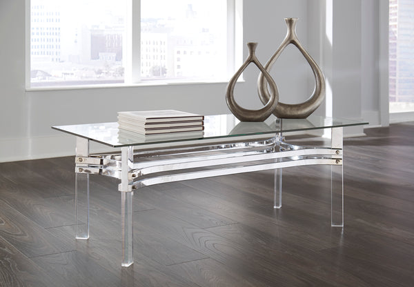 Shop Ashley Furniture Braddoni Chrome Finish Rectangular Cocktail Table at  Raley's Home Furnishing