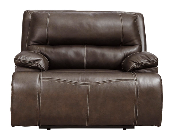 Ricmen Walnut Wide Seat Power Recliner