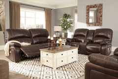 Hallstrung Chocolate Power Sofa, Power Loveseat and Power Chair