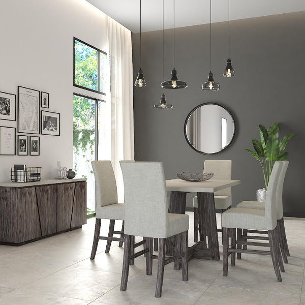 Shop Global Home Furnishings Austin Pub Table and 4 Side Chairs at  Raley's Home Furnishing