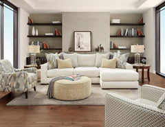 Shop Fusion Braxton Ivory 2 Pc Sectional Raf Chaise at  Raley's Home Furnishing