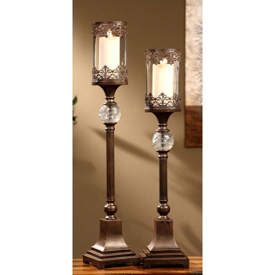 Shop Crestview Ashland 2 Pc. Candle Holders at  Raley's Home Furnishing