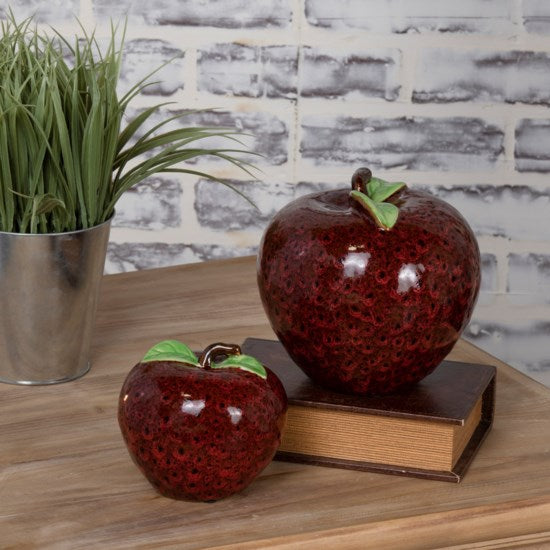 Shop Crestview Apple Statues Set of 2 at  Raley's Home Furnishing