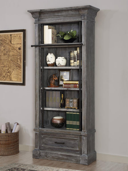 Shop Parker House Gramercy Park Gray Museum Bookcase at  Raley's Home Furnishing