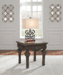 Charmond - Brown - Square End Table