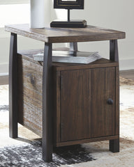 Vailbry - Brown - Chair Side End Table