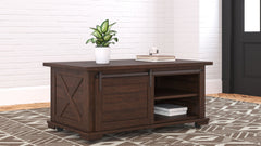 Camiburg - Warm Brown - Rectangular Cocktail Table
